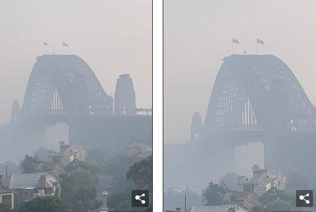 Chất lượng không khí của thành phố sa sút trầm trọng.