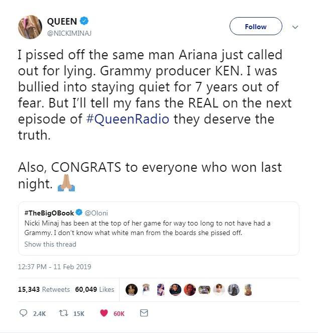 Nicki Minaj đã giải đáp thắc mắc cho chúng ta.