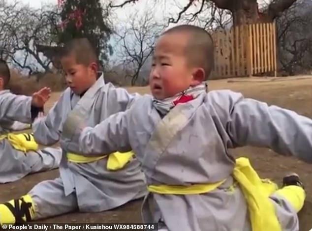 Tiểu Thạch Đầu chăm chỉ luyện võ mỗi ngày.