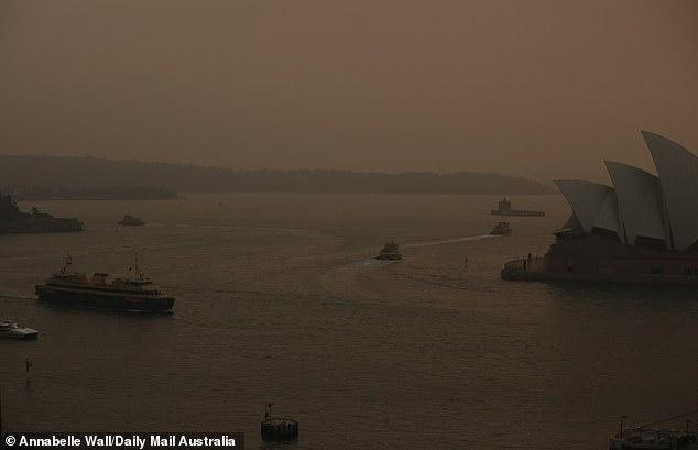 Cháy rừng hoành hành ở New South Wales là nguyên nhân xảy ra hiện tượng này.