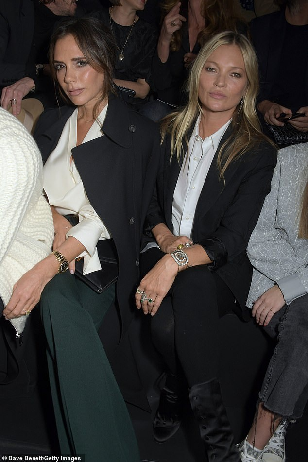 Hai biểu tượng thời trang Anh Quốc trong một khung hình tại show Dior