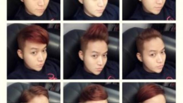 """""""50 sắc thái"""" của Chung Thanh Phong với những style tóc khác nhau."""