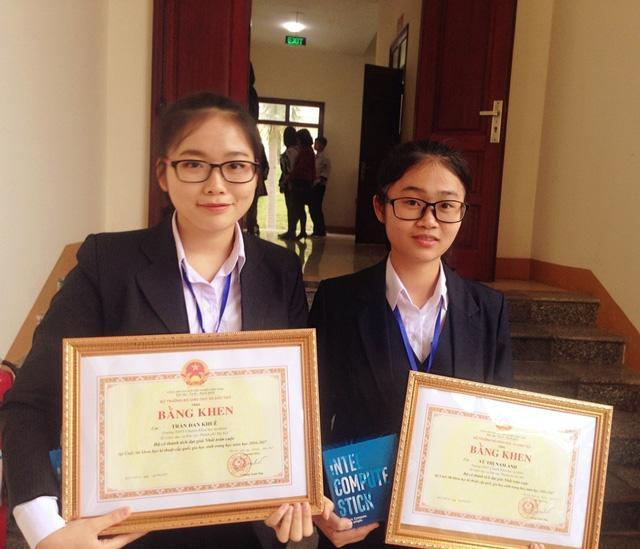 Đan Khuê và Nam Anh chinh phục giải Nhất toàn cuộc thi KHKT cấp Quốc gia khu vực phía Bắc.