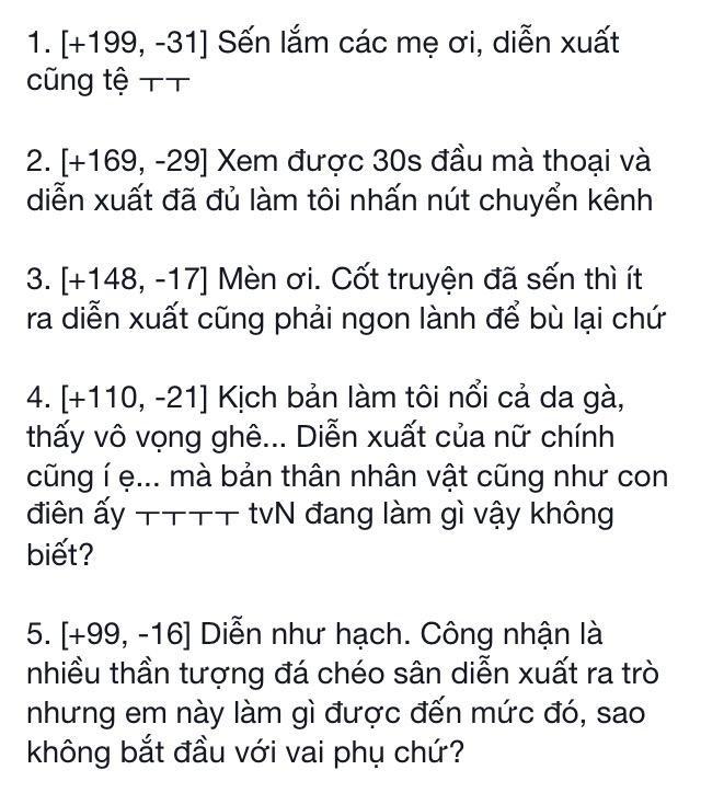 Nhận xét tiêu cực của netizen HànNguồn: Netizenbuzz Vtrans