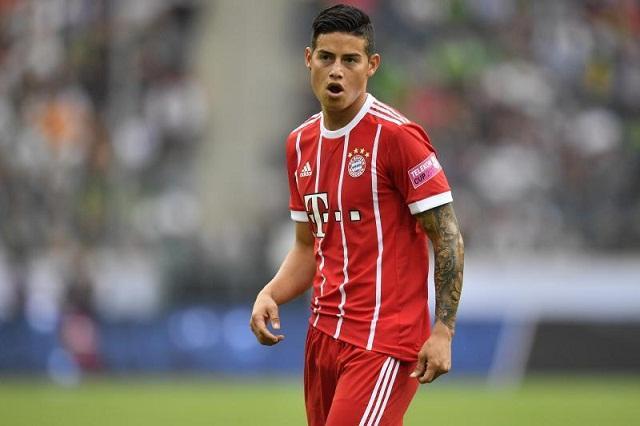 James Rodriguez hiện đang khoác áo Bayern Munich theo dạng cho mượn từ Real Madrid.
