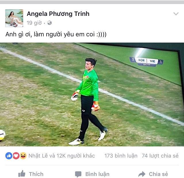Angela Phương Trinh công khai tình cảm dành cho Tiến Dũng.
