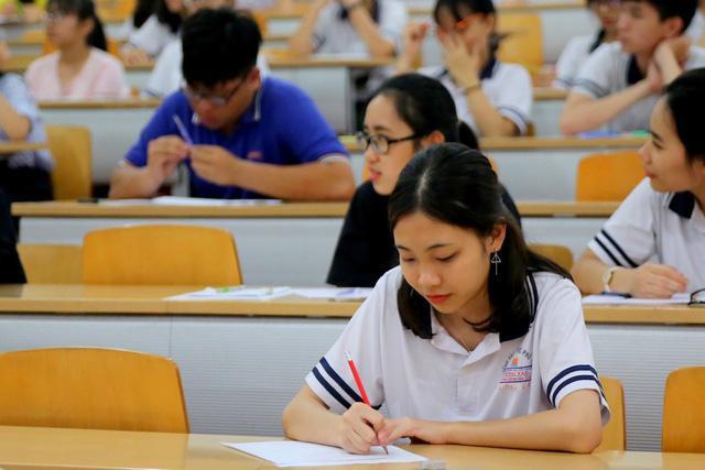 Thí sinh trong kỳ thi kiểm tra năng lực của trường ĐH thành viên ĐH Quốc gia TPHCM.