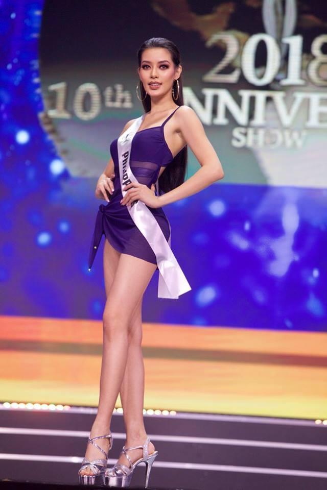 Top 10Miss Supranational - Hoa hậu Siêu quốc gia 2018 Jehza Huelar xếp ở vị trí thứ 3.