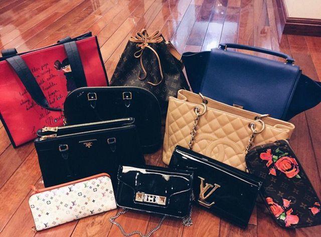 Những mẫu túi xách đắt đỏ của Quỳnh Anh.