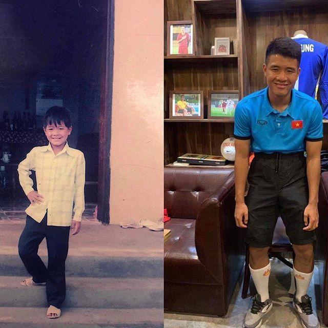 """Mấy ai trong giới cầu thủ có được nét hồn nhiên trong sáng như Đức Chinh. Cậu bé năm 12 tuổi chẳng khác gì so với chàng trai năm 21 tuổi, vẫn là nụ cười ấm áp giữa cuộc đời vốn dĩ không dành cho những người """"yếu tim""""."""