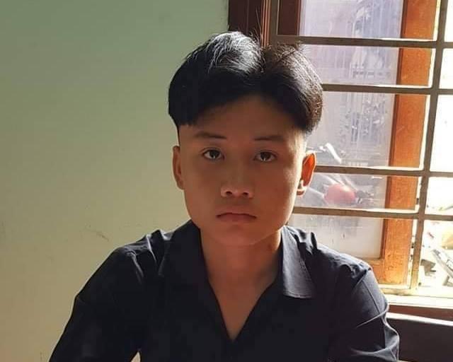 Lê Văn Hoài tại cơ quan điều tra. Ảnh: báo Dân Việt.