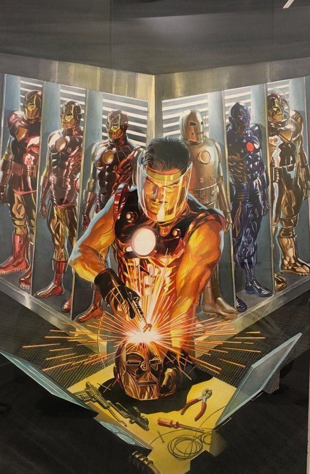 Tony Stark, minh họa bởi Alex Ross