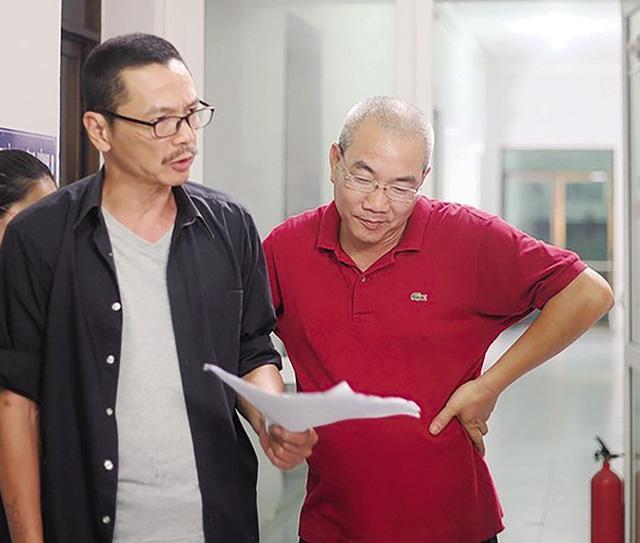 Đạo diễn Danh Dũng và NS Trung Anh trong một dự án phim.