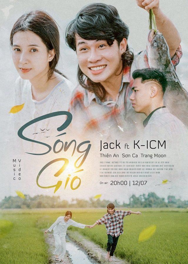 Poster MV Sóng gió được Jack và K-ICM chính thức công bố với người hâm mộ.
