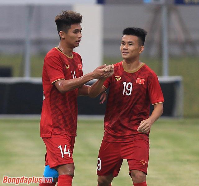 Việt Cường (14) ghi bàn thắng duy nhất của trận đấu ( Nguồn: Bongdaplus)