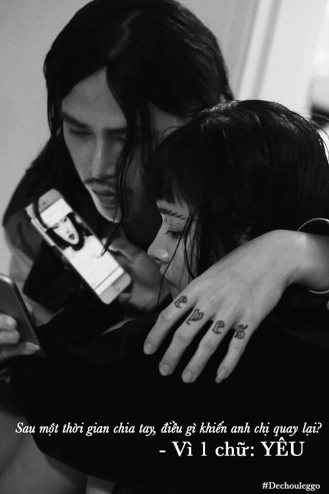 """Đầu tháng 1/2018, Châu Bùi thừa nhận yêu lại từ đầu với Decao. """"Sóng đợt này lớn quá! nhưng mình cũng vượt qua rồi! Decao"""", cô viết trên trang cá nhân. Động thái này đã nhận về nhiều sự chúc mừng của fans."""