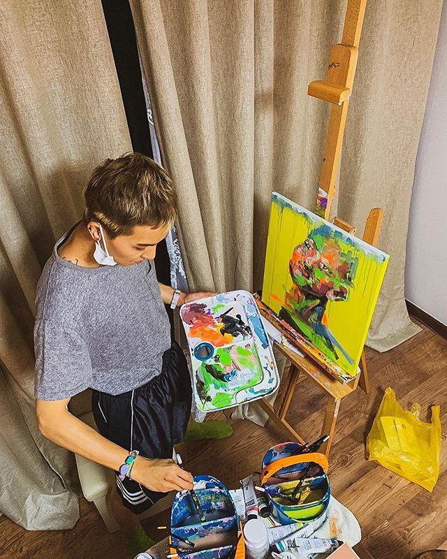 Khả năng nghệ thuật của anh chàng khiến fan vô cùng thán phục.
