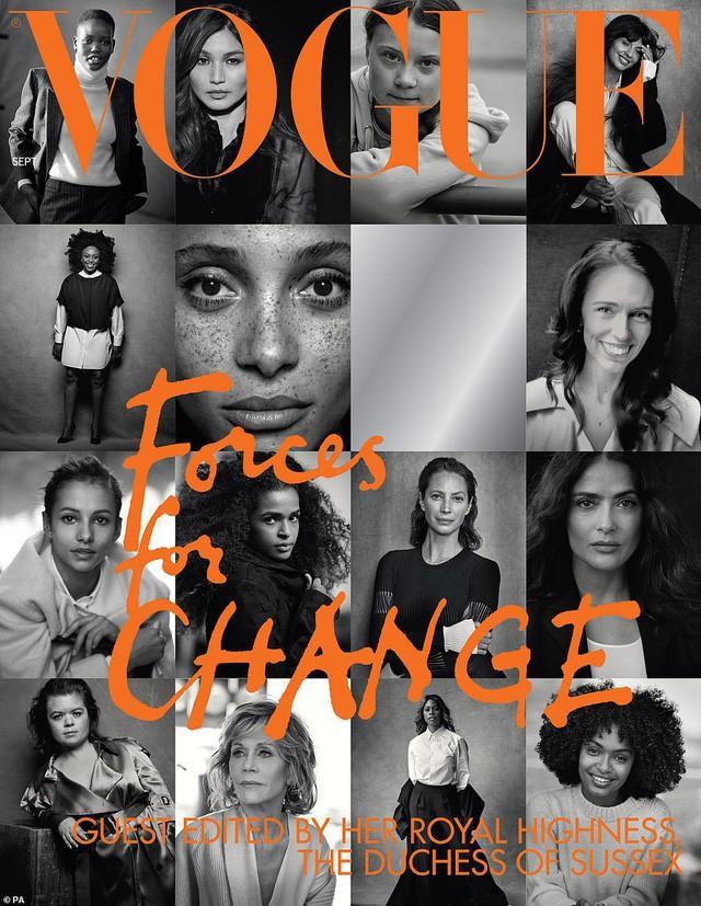 """Trang bìa tạp chí Vouge tháng 9 được chính tay Công nương Meghan Markle thiết kế với 15 nhân vật mang đậm chất """" nữ quyền"""""""