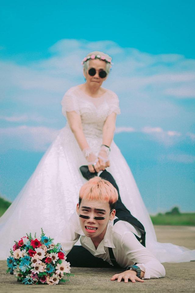 Xúc động bộ ảnh cưới bà nội  cháu trai: Đời người con gái đẹp nhất là khi khoác lên mình bộ váy cưới ảnh 5