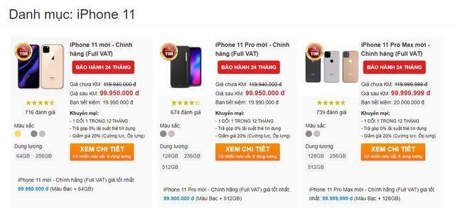 Một cửa hàng đang chào giá iPhone mới tới gần 100 triệu đồng.