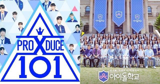 Chương trình Produce X 101 và Idol School.