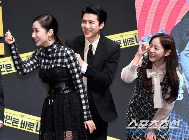 Họp báo Busted 2!: Park Min Young đẹp quyến rũ bên Sehun (EXO) và Lee Seung Gi ảnh 21
