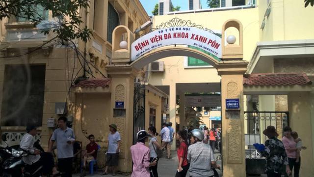 Bệnh viện đa khoa Xanh Pôn (Hà Nội), nơi diễn ra vụ việc