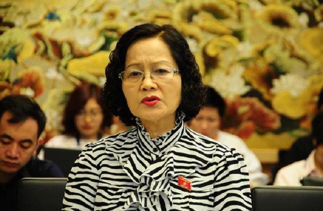 Đại biểu Quốc hội Trần Thị Quốc Khánh đề nghị nghiên cứu sản xuất thuốc tiêm làm triệt tiêu ý định bệnh hoạn xâm hại phụ nữ, trẻ em. Ảnh: báo Dân Trí