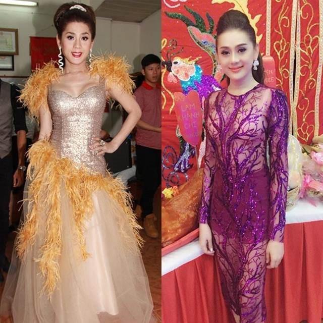 Nữ ca sĩ đặc biệt yêu thích các trang phục đính lông vũ, đá cườm cầu kỳ nhưng hoàn toàn không đẹp mắt chút nào!