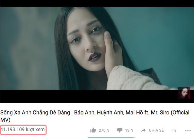 MV Sống xa anh chẳng dễ dàng hiện đã vượt mốc 40 triệu lượt xem.