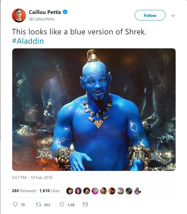 Nhìn cứ như phiên bản xanh dương của Shrek.