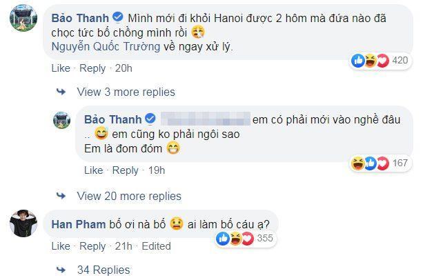 Nữ diễn viên Bảo Thanh khéo léo đập tan tin đồn bằng dòng bình luận dưới bài đăng