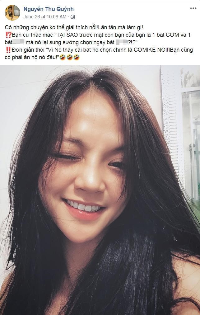 Trước đó, cô cũng đăng tải loạt status bày tỏ thái độ bức xúc