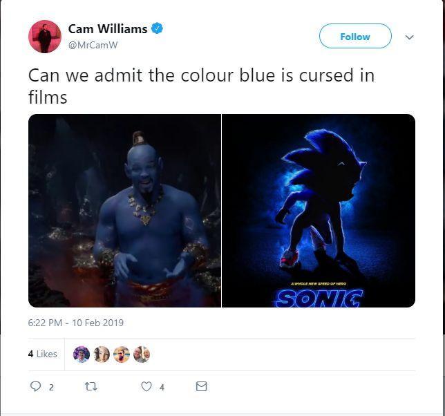 Màu xanh dương bị nguyền rủa à?