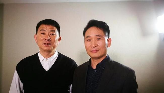 Anh Vinh (bên trái) và anh Dân ở thời điểm hiện tại.