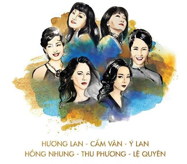 Những nghệ sĩ chia sẻ vị trí trên poster.