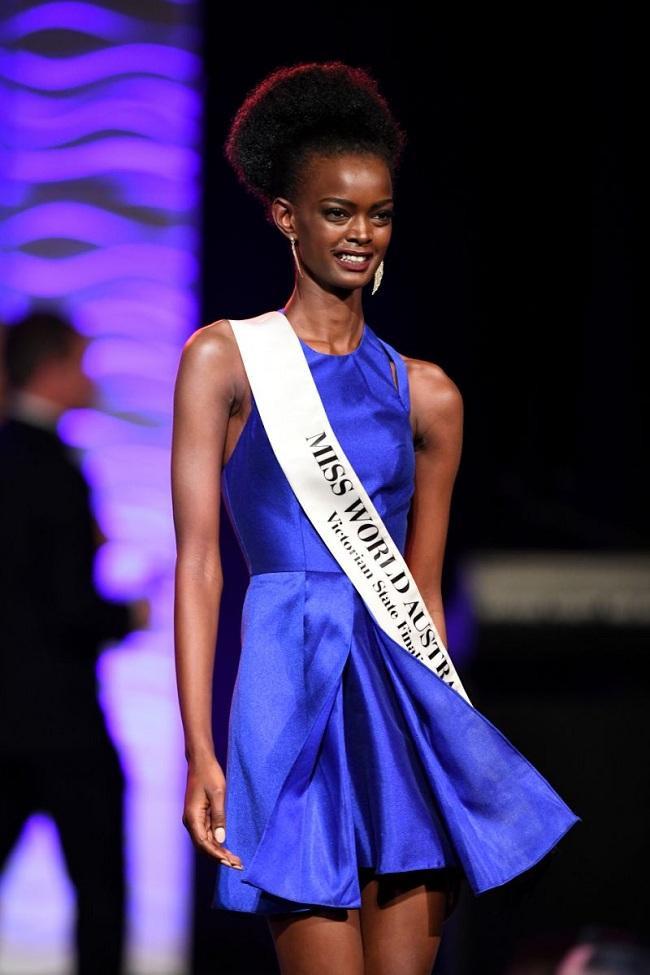 Adau Mornyang sinh ra tại Sudan sau đó định cư ở Australia. Cô theo đuổi sự nghiệp người mẫu từ năm 19 tuổi. Năm 2017, cô từng lọt vào top 8 cuộc thi Miss World Australia.