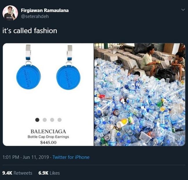 """Phụ kiện bông tai độc đáo của thương hiệu cao cấp gây chú ý trên cộng đồng mạng khi ai cũng cho rằng chỉ với nắp nhựa đơn giản thế mà giá cao """" ngất trời"""""""