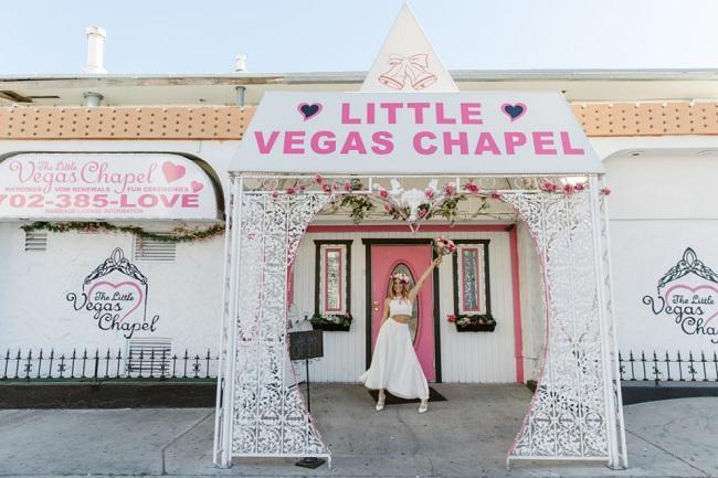 Nhà cầu nguyện Little Vegas - Nơi tổ chức đám cưới của rất nhiều cặp đôi khi đến Las Vegas.