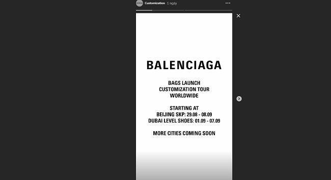 Thời điểm diễn ra sự kiện thiết kế túi theo yêu cầu của Balenciaga đến với khách hàng là bắt đầu từ ngày 29/8 thế mà Lisa đã có được kiểu túi độc đáo trước đó