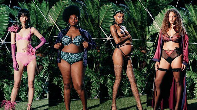 Người mẫu đa chủng tộc trong show năm ngoái của Rihanna được lòng giới mộ điệu thậm chí có nàng mẫu đang mang bầu catwalk đầy tự tin xuất hiện tạo điểm nhấn trong show