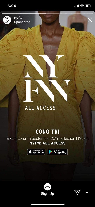 Đoạn trailer của New York Fashion Week xuất hiện mẫu váy của Công Trí