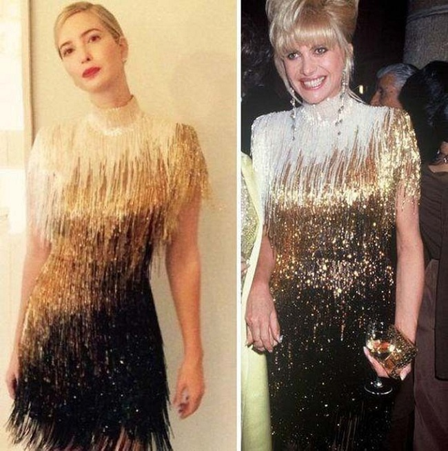 Kiểu váy này được thiết kế bởi NTK Mỹ Bob Mackie