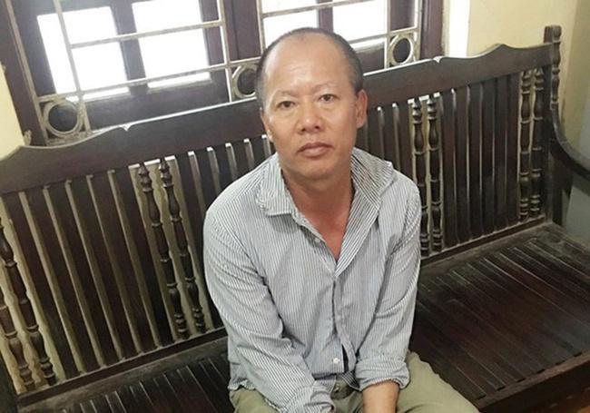 Đối tượng Nguyễn Văn Đông sau khi bị bắt giữ.