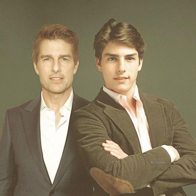"""Nam tài tử Tom Cruise với gương mặt """"búng ra sữa"""" ngày trẻ."""