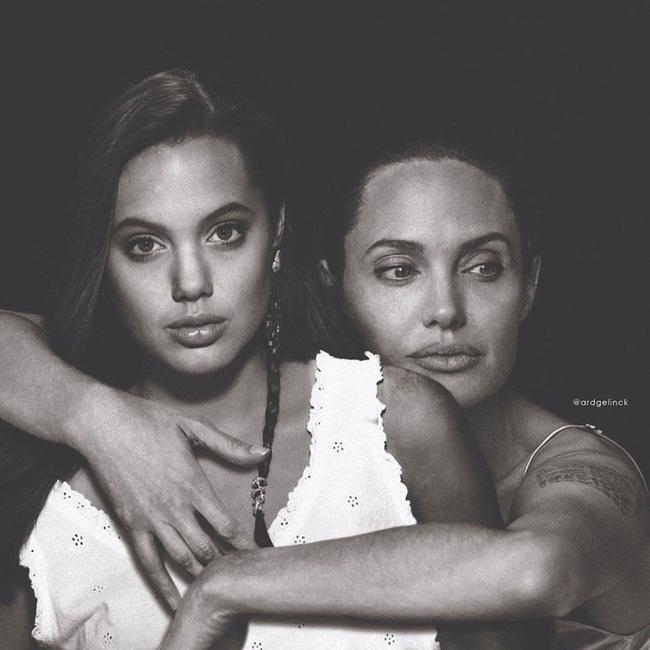 Angelina Jolie ở thời điểm này cũng gây được ấn tượng nhờ đôi môi quyến rũ.