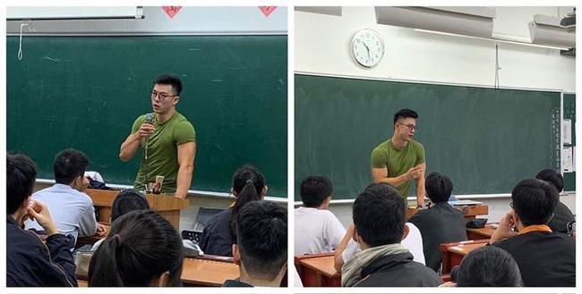 Thầy giáo Trung Quốc với ngoại hình điển trai, cơ thể săn chắc.