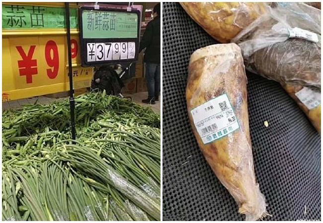 Giá một số loại rau xanh đã tăng gấp 10 lần so với bình thường.