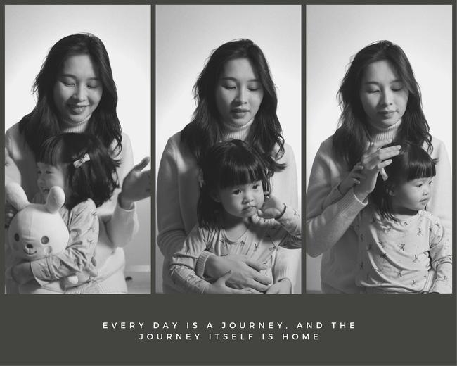 Một hình ảnh đáng yêu khác của Sophie bên mẹ được doanh nhân Trung Tín chia sẻ