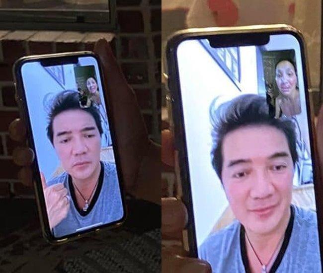 Vết loang lỗ lộ rõ trên khuôn mặt của nữ ca sĩ Hồng Ngọc qua màn hình facetime